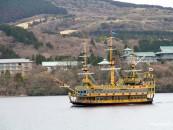 เที่ยวญี่ปุ่น ซากุระ (8) เที่ยวฮาโกเน่ Hagone ชิมไข่ดำ Owakudani ล่องเรือโจรสลัด ทะเลสาบอาชิ Ashi Lake
