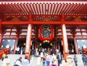 เที่ยวญี่ปุ่น ซากุระ (13) วัดอาซากุสะ Sensoji Temple Asakusa ชมซากุระริมฝั่งแม่น้ำซูมิดะ Sumida Park