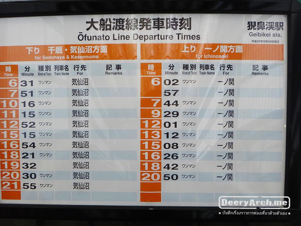 geibikei timetables